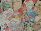 Lot of 12 CUTE VINTAGE VALENTINE DIE CUTS 4 CRAFTS FREE SHIP V2 Valentines