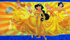 NEW 1 PANEL ~DISNEY ALL PRINCESS PRINCESSES FAMILY GOLD YELLOW FABRIC