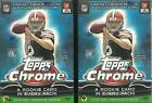(2) 2014 Topps CHROME Football Trading Cards Retail VALUE Box LOT = 64 Cards