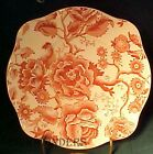 JOHNSON BROTHERS china ENGLISH CHIPPENDALE pink/red SQUARE SALAD PLATE 7-5/8