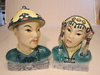 Quality Goldscheider Oriental Man & Lady Bust Large Ceramic Figurines