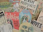 Lot of 12 Hysterical VINTAGE Advertising Die Cuts 4 CRAFTS FREE SHIP B9
