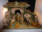 FONTANINI DEPOSE ITALY 10 PC lighted NATIVITY RELIGIOUS CHRISTMAS SCENE SET
