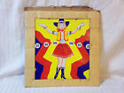 Vintage Tin Cow Girl Target ~ 11 by 12 Inches ~ Red, Yellow, Blue, and White