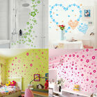 12Color 124 Flowers7 Butterfly Wall Sticker Decal DIY Removable Home Decor Gift