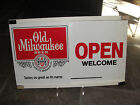 Old Milwaukee Beer, sliding store hours sign, Open, Thank You, 1980, Come Again
