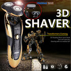 Electric Mens Cordless Rotary Shaver Rechargeable Beard Hair Nose Trimmer Razor