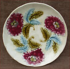 Red Daisies Plate French Majolica Onnaing 1900