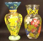 Pr Tracy Porter & IGI Wang Hand Painted Glass Vases