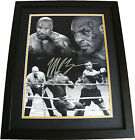 MIKE TYSON HAND SIGNED & FRAMED HUGE PHOTO MOUNT DISPLAY BOXING SEE PROOF & COA