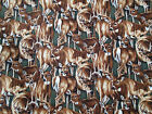 STONEY BROOK PACKED DEER BUCK DOE WILD WINGS #1843 COTTON QUILT BTY SC FABRIC