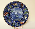 Dotter Historical Pottery Desoto's Discovery Blue Multicolor NICE
