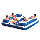 Intex 58293EP Oasis Island Inflatable Giant 5 Person Lake Floating Lounge Raft