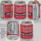 RARE GRAB SOME BUDS BEER CAN 2011 BUDWEISER 8oz PROMO SAMPLE CLYDESDALES HORSE