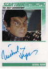 Complete Star Trek TNG Series 2 Autograph Card Nicholas Kepros as General Movar