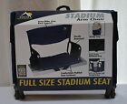 GCI Outdoor - Full Size Stadium Seat Arm Chair - Navy Blue - New