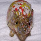 RARE BLENKO 1 OF 1 MADE FRIT COLORED LG ELEPHANT ,APPLIED PARTS , STICKERED