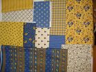 MARSEILLE yellow/blue french country cotton fabric Deb Strain MODA over 4 yds