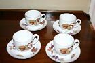 Lot of 4 Royal Worcester England Evesham Gold fine Porcelain Cups