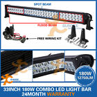 33INCH 180W LED LIGHT BAR FLOOD SPOT 4WD BOAT UTE OFFROAD WORK DRIVING 12V 24V