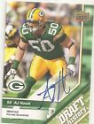 AJ Hawk Green Bay Packers Autograph Card Serial Numbered 1 10