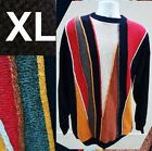 BACHRACH GRANDPA BILL COSBY UGLY SWEATER 4 COOGI LVR TEXTURD BLACK KNIT EUC  XL