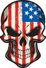 SKULL USA FLAG Sticker Die Cut Vinyl Decal  USA AMERICAN FLAG BONES SKELETON