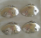 (4) WALLACE STERLING SILVER 393 Footed DISH CLAM SHELLS  3 1/2