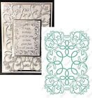 FLOURISH EMBLEM DIE by ANNA GRIFFIN 5X7 CUTTLEBUG Cut and Emboss All Occasion
