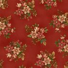 100% Cotton, Pheasant Run 8031-88 Red Small Floral, Henry Glass, By the Yard
