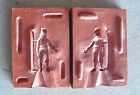 Unique Vintage Rubber Figurine Mold - Girl  with Skis SR 213