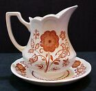 Royal Staffordshire Woburn Ironstone J & G Meakin England Pitcher Bowl FREE S/H