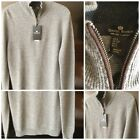 Daniel Bishop Heritage Collection Men's 2-Ply Cashmere 1/2 Zip Sweater Sz Small