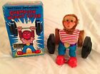 Champion Weight Lifter w/Box Yano Man Toys Japan Vintage Battery Opperated