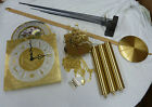 COMPLETE MASONIC GRANDFATHER CLOCK PACKAGE MVMTDIALPENDULUM WEIGHTSCH BLOCK