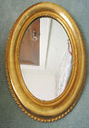 Antique WATER GILT WOOD & Gesso Carved OVAL MIRROR Painting FRAME Stunning