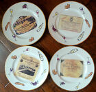 Rosanna Plates French Wine & Cheese, Set of 4, Salad, Appetizer. Great Condition