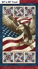 STONEHENGE STARS & STRIPES~NORTHCOTT PANEL~EAGLE~PROUD TO BE AN AMERICAN~STARS