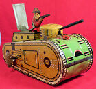 MARX TIN LITHO TOY WWI TANK  POP OUT SOLDIER GREAT WORKING CONDITION  WIND UP