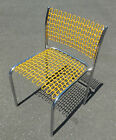 Sof-Tech Wire & Chrome Side Chair David Rowland Design For Thonet 1970 Yellow