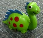 Vintage Cragstan Green Wind-Up Dinosaur Works!