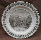 French Dead of Virginia Roma Cabinet Wall Grisaille Plate Creil Paris
