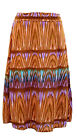 NEW for Women by Jon & Anna Brown Tribal Slinky Maxi Skirt Plus Size 1X