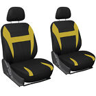 6pc Mesh Front Car Seat Headrest Cover Set Bucket Chair 11 Styles Colors