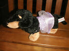 AURORA PLUSH PUPPY DOG TOY ANIMAL TWO TONE OUTFIT STUFFED