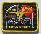 USAF Patch 493rd FIGHTER SQUADRON 2015 WSEP RED FLAG F-15 F15 EAGLE USAFE