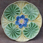 Antique Oyster Plate Majolica Wasmuel Belgium 1890 A