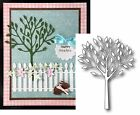 VIVA TREE Metal Die By POPPY STAMPS 901 DISCONTINUED Trunk Leaves Summer Fall