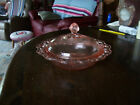 Old Colony Lace Edge pink covered butter dish or Bon Bon