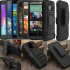 Rugged Combo Hard Case Heavy Duty Cover Belt Clip Holster Stand For Cell Phone